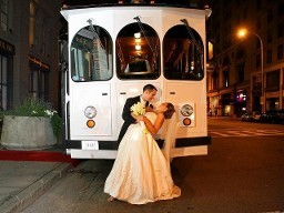 White Wedding Trolley 2